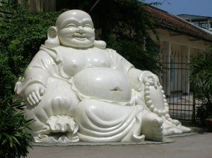 Big fat Buddha sculpture
