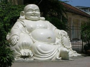 Big fat Buddha sculpture