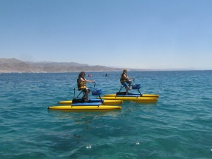 Water cycling.. you can even do it standing up!