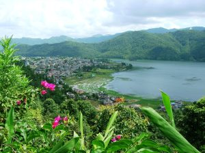 Birds eye view of Pokhara